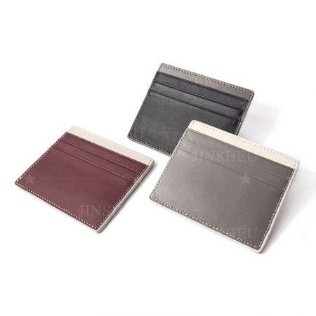 custom high end leather slim wallet card holder