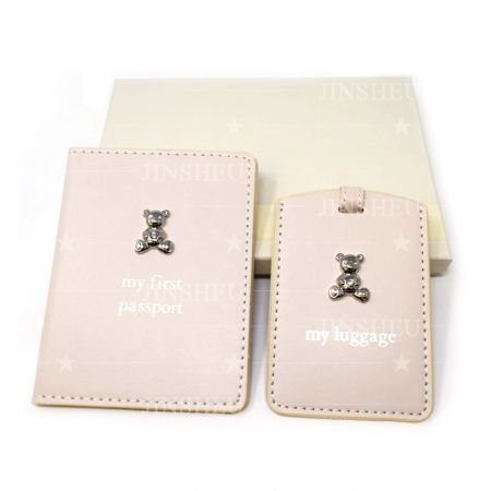 personalized branded logo passport holder and luggage tag