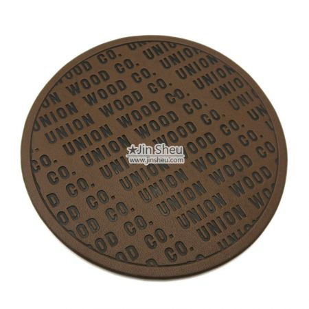 personalized debossed logo leather patch