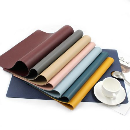 Leather Table Mat & Office Desk Pad - Custom Leather Dining Table Mat