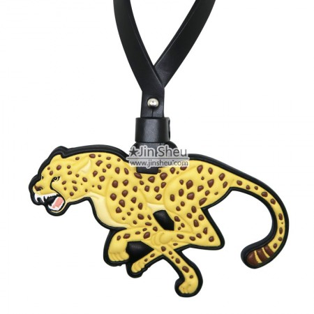 3D Jaguar Leather Tag - 3D Jaguar Leather Tag