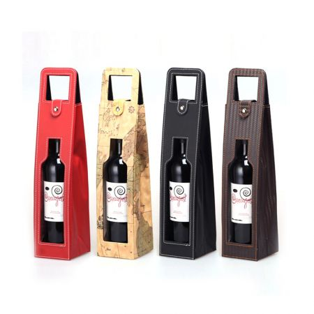 personalized leather wine bottle carrier