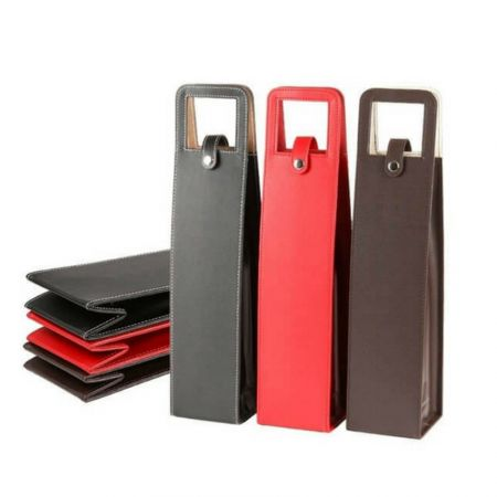 leather made wine bottle carry bag supplier