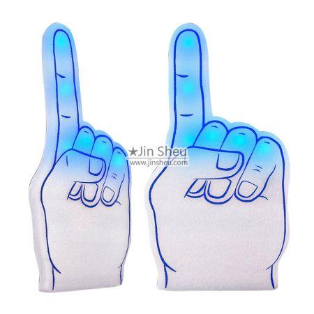 LED Light Up Cheering Foam Hands - LED Light Up Cheering Foam Hands