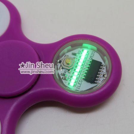 B) LED Texts Hand Spinner - LED Texts Hand Spinner