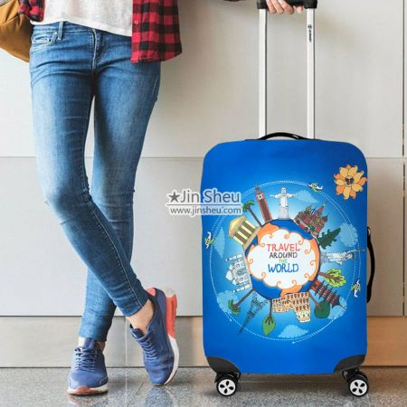 promotional travel luggage protective covers