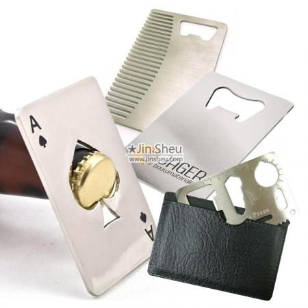 Credit Card Bottle Openers - Credit Card Size Metal Card Bottle Openers