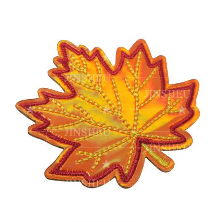 custom made canada leaf holographic patch
