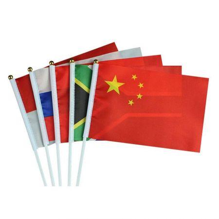 Custom National Hand Flags - Custom National Hand Flags