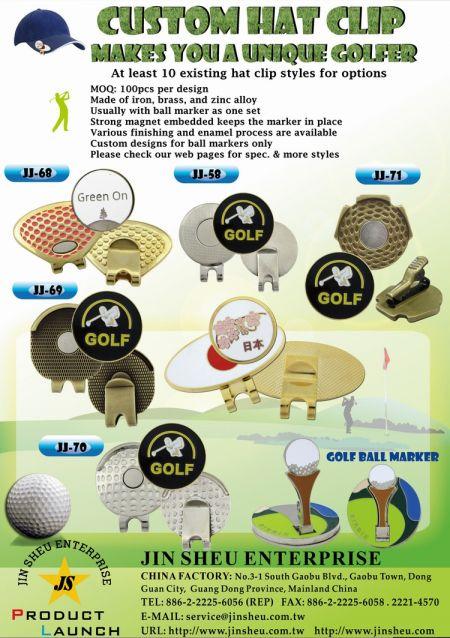 Custom Golf Ball Marker Hat Clips - Custom Golf Ball Marker Hat Clips