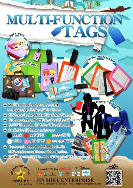 Custom PVC Luggage Tags & Card Badge Holders - Custom PVC Luggage Tags & Card Badge Holders