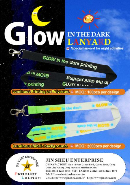 Glow in the dark lanyard - Glow in the dark lanyard