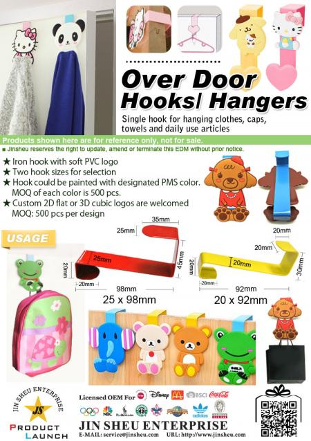 Over the Door Hooks/ Clothes Hangers - Over the Door Hooks/ Clothes Hangers