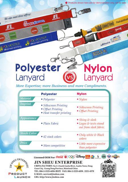 Polyester Lanyard v.s. Nylon Lanyard - promotional polyester lanyards