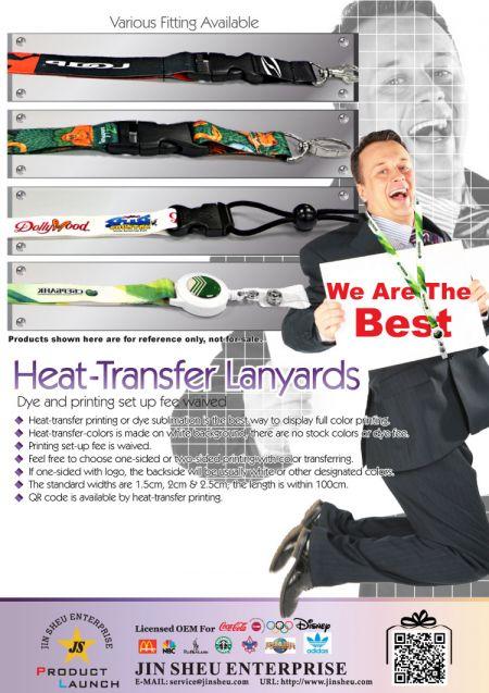 HEAT- TRANSFER LANYARDS - Custom Dye Sublimation Lanyards