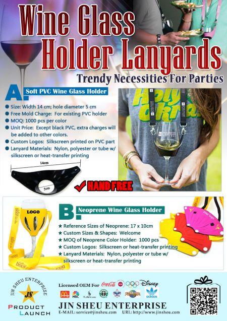 Weinglashalter Lanyards - benutzerdefinierte wein glas halter halskette