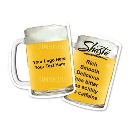 Custom Shaped Paperboard Beer Coaster - Custom Beer Shaped Paperborad Coaster