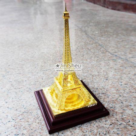 3D Brass Eiffel Tower Décor - 3D Brass Eiffel Tower Décor