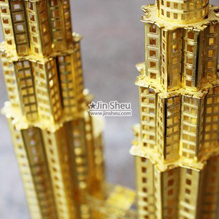 gold plating 3D building model