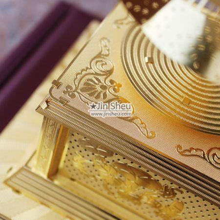 brass phonograph decoration