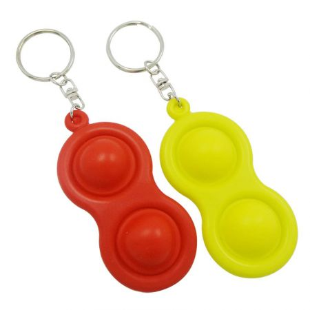 push pop bubble fidget keychains