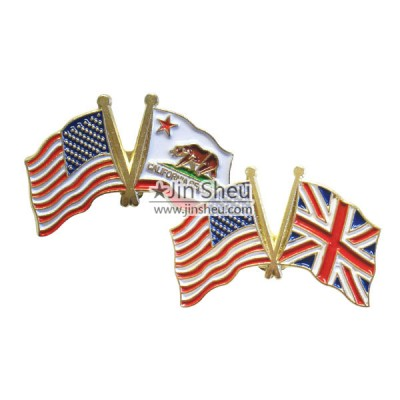 Country Crossed Flag Pins