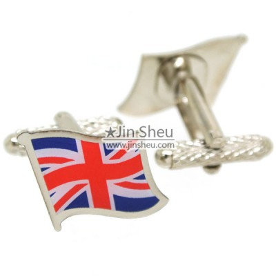 Custom Printed Country Flag Cufflinks - union jack flag cufflinks