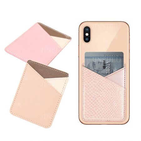 promotional PU leather mobile phone card holders