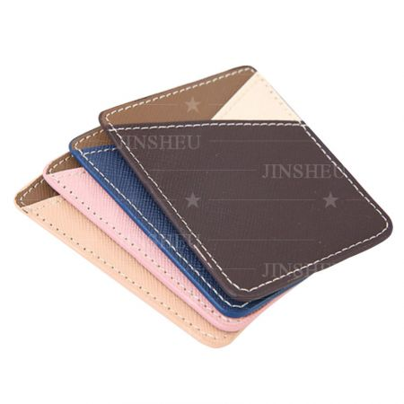 custom leather credit card pocket for cellphone