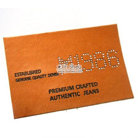 Custom Hollowed Logo Leather Label - Custom Hollowed Logo Leather Label