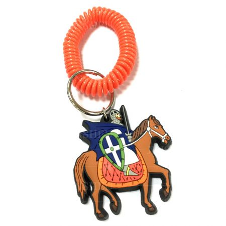 Rubber Knight Coil Keychain - Custom Rubber Knight Coil Keychain