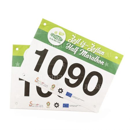 personalized tyvek paper race number bibs