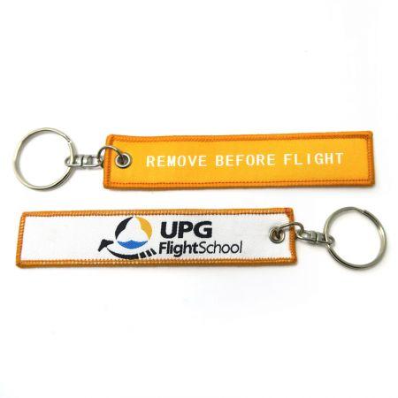 Woven Fabric Jet Pilot Aviation Key Tags - woven remove before flight key tags