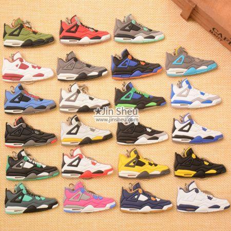 Rubber Air Jordan Sneaker Shoe Keychains - Rubber Air Jordan Sneaker Shoe Keychains