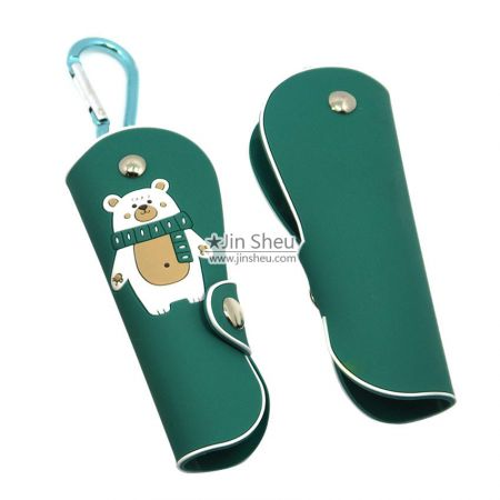 wholesale personalized rubber key bags