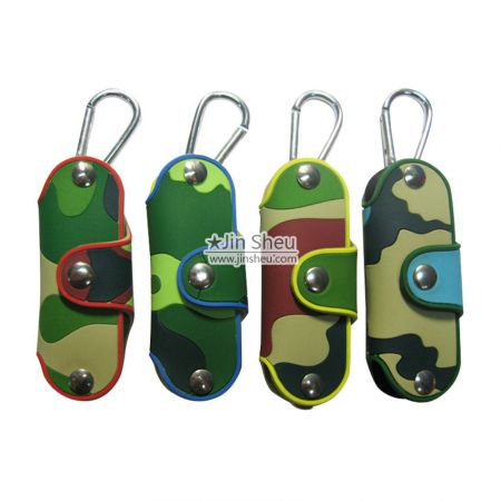custom PVC rubber camouflage key cases