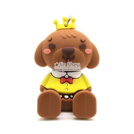 Cute Dog Puppy Smartphone Stand - PVC rubber smartphone stands