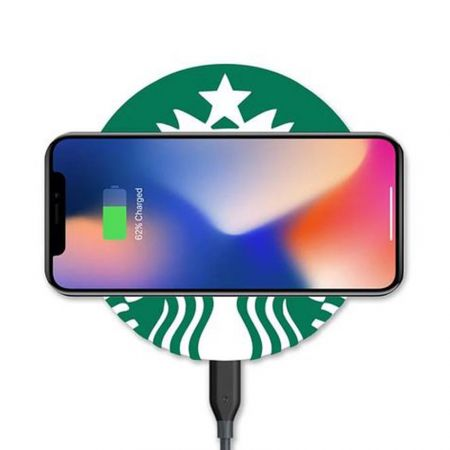 custom PVC rubber logo wireless charger