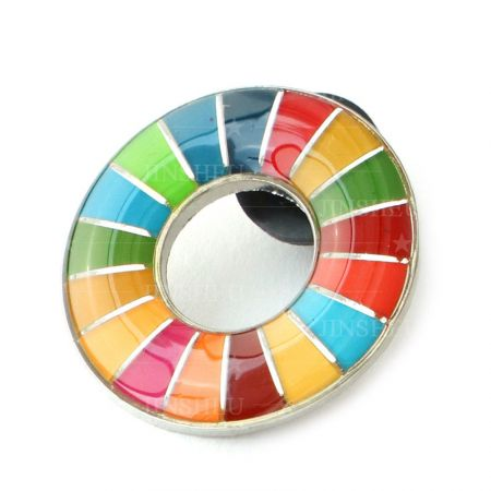 SDG Enamel Epoxy Pin Badge