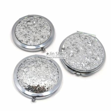 Promotional Sparkle Sequin Compact Mirrors - Promotional Sparkle Sequin Compact Mirrors