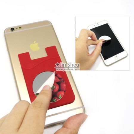 Silicone Card Holder with Mirror - Silicone Card Holder with Mirror