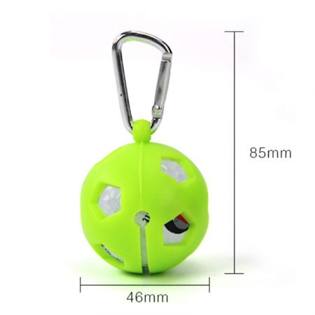 custom silicone single golf ball cover with carabiner