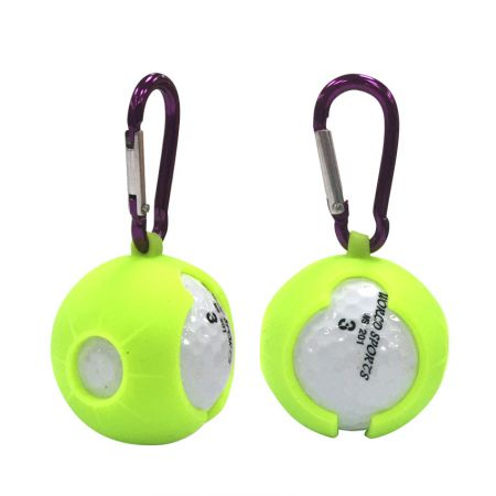 personalized silicone golf ball holder with carabiner keyring