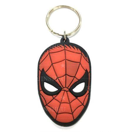 Super Hero Spiderman Rubber Keyrings - Advertising Movie Souvenir Keyrings