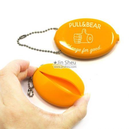custom logo squeeze coin holder
