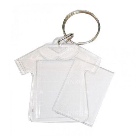 Acrylic Photo Insert T Shirt Keychain - Acrylic Photo Insert T Shirt Keychain