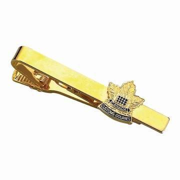 Customized Tie Bar - Canada Maple Leaf Tie Bar