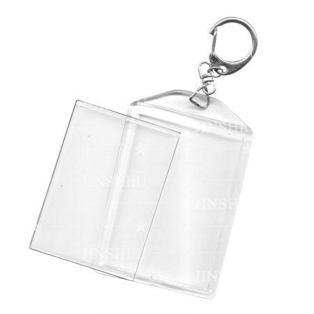 Photo Insert Acrylic Blank Keychain - Photo Insert Acrylic Blank Keychain