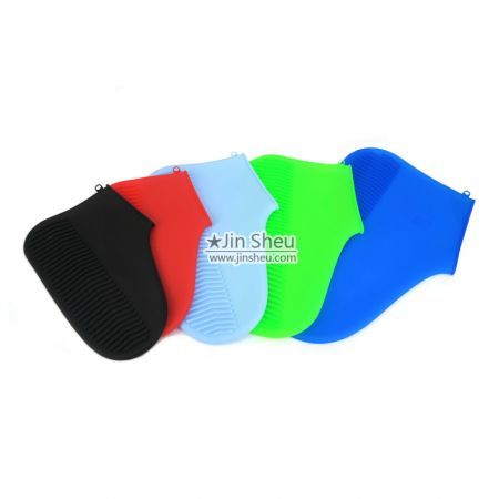 custom logo imprinted silicone rubber overshoes