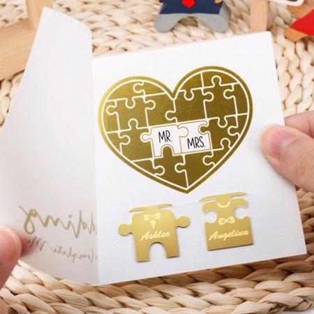 Wedding Jigsaw Puzzle Bookmarks - Wedding Jigsaw Puzzle Bookmarks